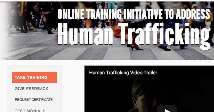 Online Training Initiative to Address Human Trafficking