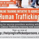 Bookmark - Human Trafficking Training
