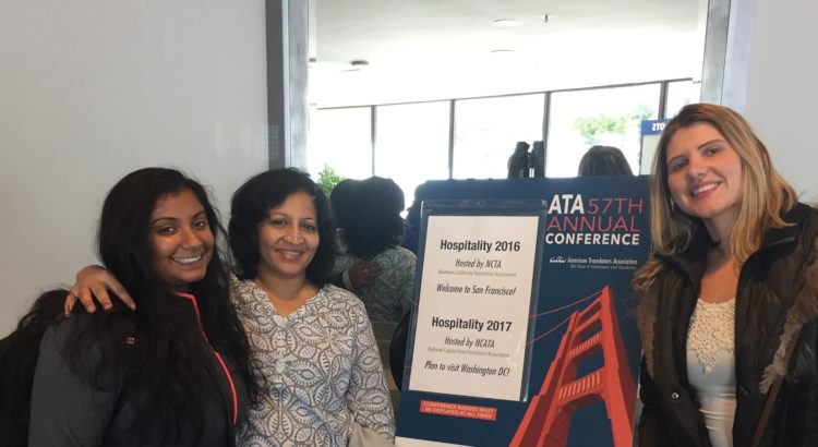 MCIS meets hundreds of translators, interpreters, trainers and entrepreneurs at ATA conference-Latha Sukumar, Executive Director shares her experience