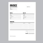 Invoice / business template - A4 European standard paper