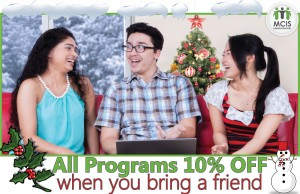 All programs 10% off when you bring a friend