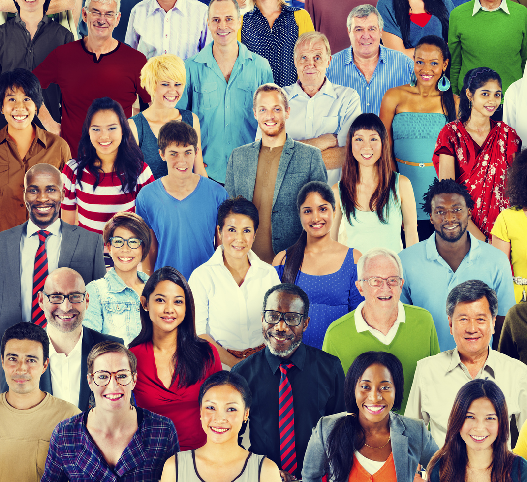 Multiethnic Variation Ethnicity Crowd People Concept