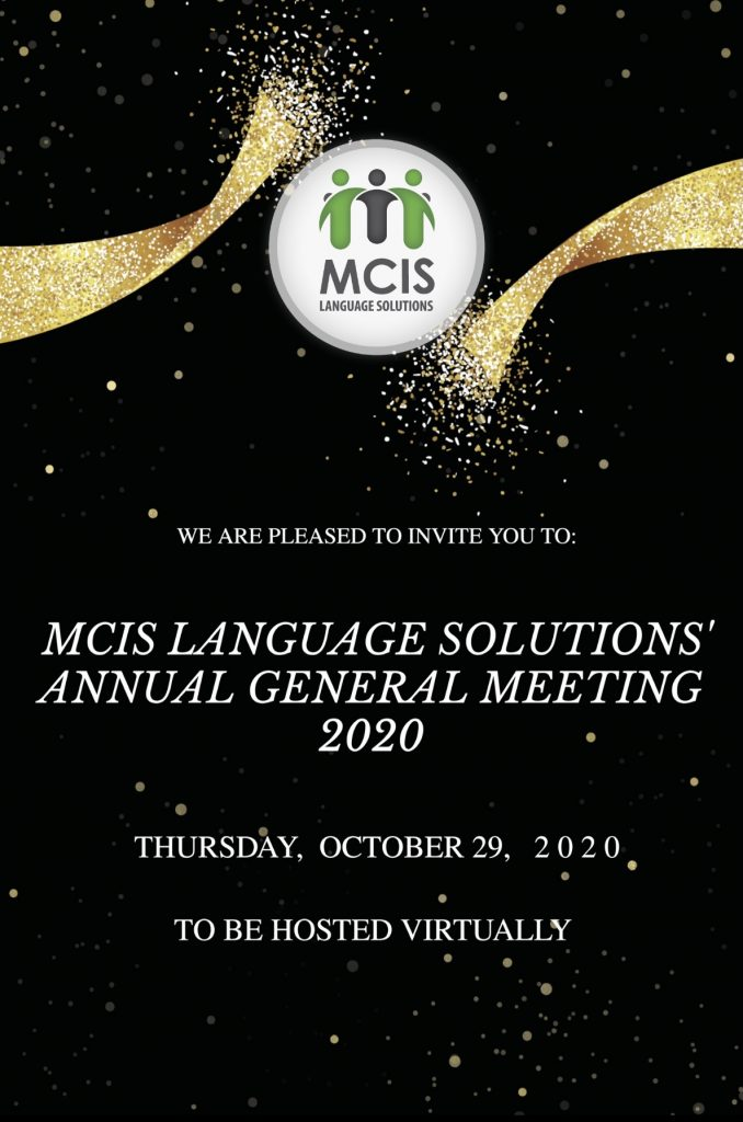 MCIS Language Solutions to Honour Partners and Top Language Professionals